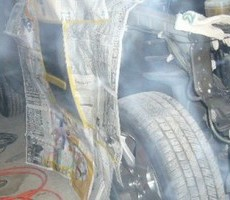 トヨタ・ハリアーの鈑金修理事例(1)のサムネイル